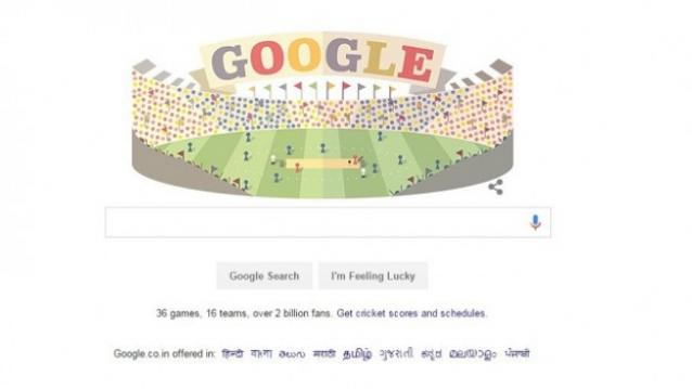Google marks the start of ICC T20 Cricket World Cup with a doodle