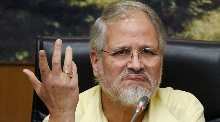 What made Najeeb Jung to leave Delhi?