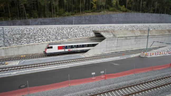 The world's longest and deepest tunnel open in Switzerland